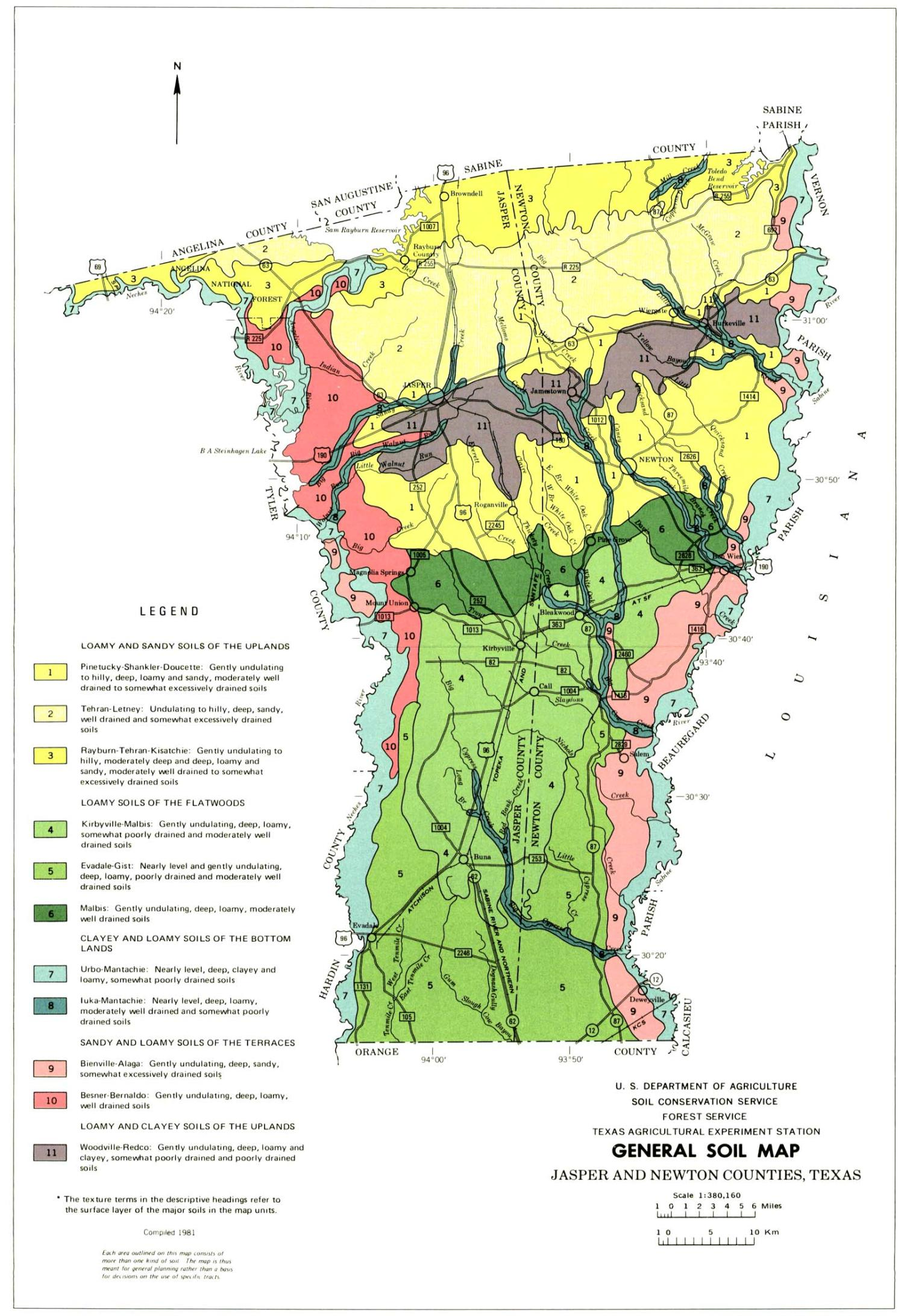 General Soil Map Jasper And Newton Counties Texas The Portal - Counties texas map