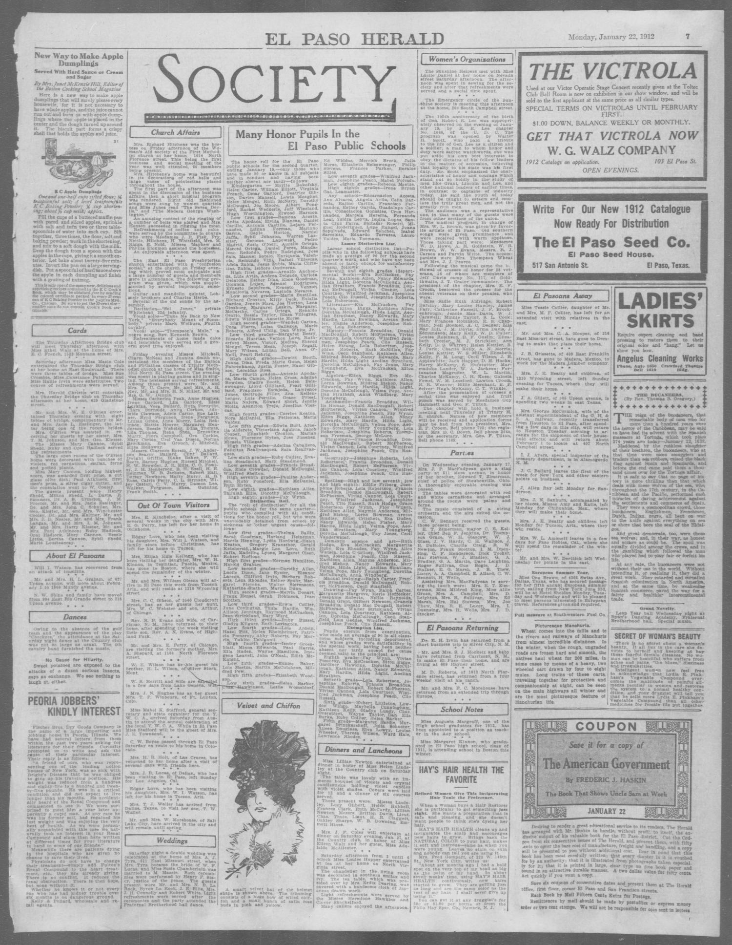 El Paso Herald (El Paso, Tex ), Ed  1, Monday, January 22