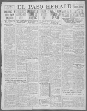 Primary view of object titled 'El Paso Herald (El Paso, Tex.), Ed. 1, Monday, February 19, 1912'.