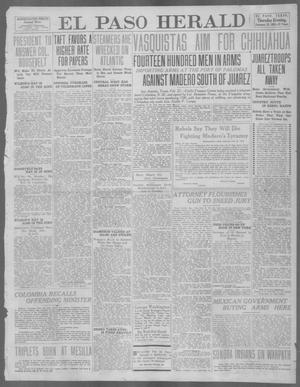 Primary view of object titled 'El Paso Herald (El Paso, Tex.), Ed. 1, Thursday, February 22, 1912'.