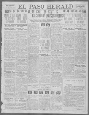 Primary view of object titled 'El Paso Herald (El Paso, Tex.), Ed. 1, Saturday, March 16, 1912'.