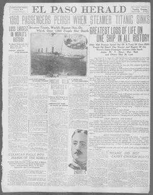 Primary view of object titled 'El Paso Herald (El Paso, Tex.), Ed. 1, Tuesday, April 16, 1912'.
