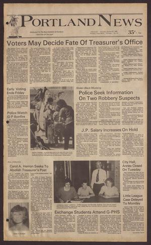Portland News (Portland, Tex.), Vol. 20, No. 44, Ed. 1 Thursday, October 30, 1986