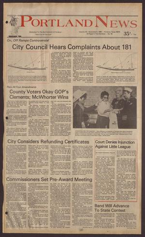 Portland News (Portland, Tex.), Vol. 20, No. 45, Ed. 1 Thursday, November 6, 1986