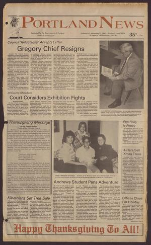 Portland News (Portland, Tex.), Vol. 20, No. 48, Ed. 1 Thursday, November 27, 1986