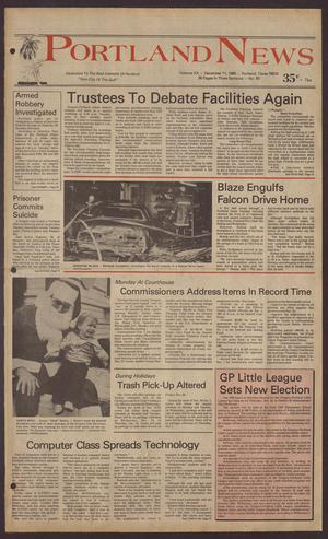 Portland News (Portland, Tex.), Vol. 20, No. 50, Ed. 1 Thursday, December 11, 1986
