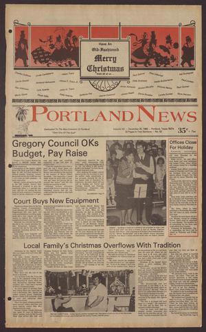 Portland News (Portland, Tex.), Vol. 20, No. 52, Ed. 1 Thursday, December 25, 1986