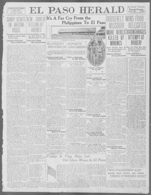 Primary view of object titled 'El Paso Herald (El Paso, Tex.), Ed. 1, Thursday, June 13, 1912'.