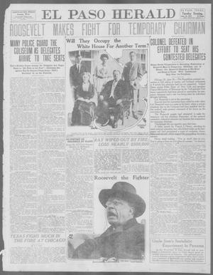 Primary view of object titled 'El Paso Herald (El Paso, Tex.), Ed. 1, Tuesday, June 18, 1912'.