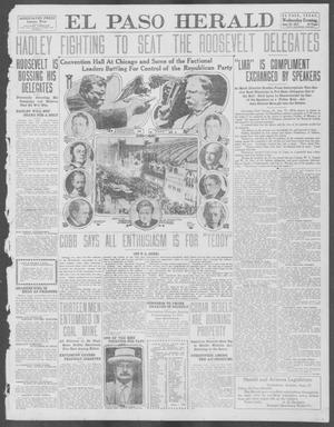 Primary view of object titled 'El Paso Herald (El Paso, Tex.), Ed. 1, Wednesday, June 19, 1912'.