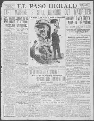 Primary view of object titled 'El Paso Herald (El Paso, Tex.), Ed. 1, Friday, June 21, 1912'.