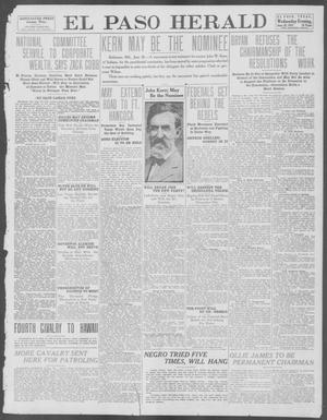 Primary view of object titled 'El Paso Herald (El Paso, Tex.), Ed. 1, Wednesday, June 26, 1912'.