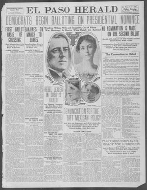 Primary view of object titled 'El Paso Herald (El Paso, Tex.), Ed. 1, Friday, June 28, 1912'.