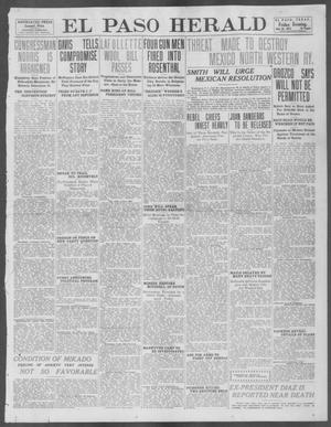 Primary view of object titled 'El Paso Herald (El Paso, Tex.), Ed. 1, Friday, July 26, 1912'.