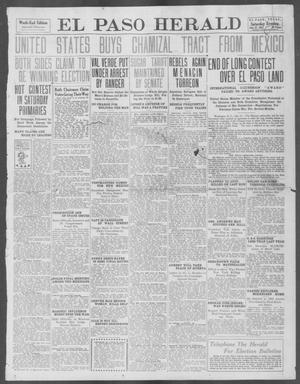 Primary view of object titled 'El Paso Herald (El Paso, Tex.), Ed. 1, Saturday, July 27, 1912'.