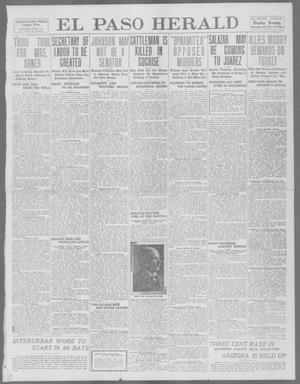Primary view of object titled 'El Paso Herald (El Paso, Tex.), Ed. 1, Monday, November 25, 1912'.