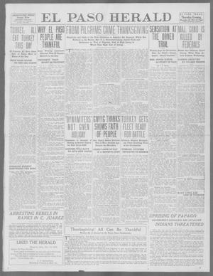 Primary view of object titled 'El Paso Herald (El Paso, Tex.), Ed. 1, Thursday, November 28, 1912'.
