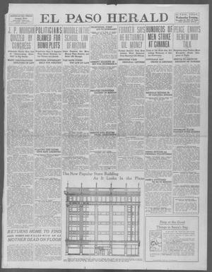 Primary view of object titled 'El Paso Herald (El Paso, Tex.), Ed. 1, Wednesday, December 18, 1912'.