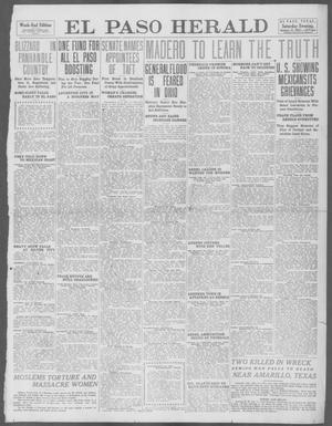 Primary view of object titled 'El Paso Herald (El Paso, Tex.), Ed. 1, Saturday, January 11, 1913'.