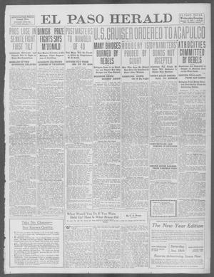 Primary view of object titled 'El Paso Herald (El Paso, Tex.), Ed. 1, Wednesday, January 15, 1913'.