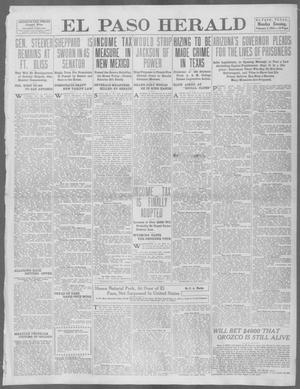 Primary view of object titled 'El Paso Herald (El Paso, Tex.), Ed. 1, Monday, February 3, 1913'.