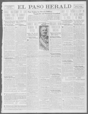 Primary view of object titled 'El Paso Herald (El Paso, Tex.), Ed. 1, Friday, April 11, 1913'.