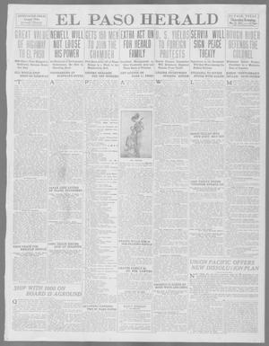 Primary view of object titled 'El Paso Herald (El Paso, Tex.), Ed. 1, Thursday, May 29, 1913'.