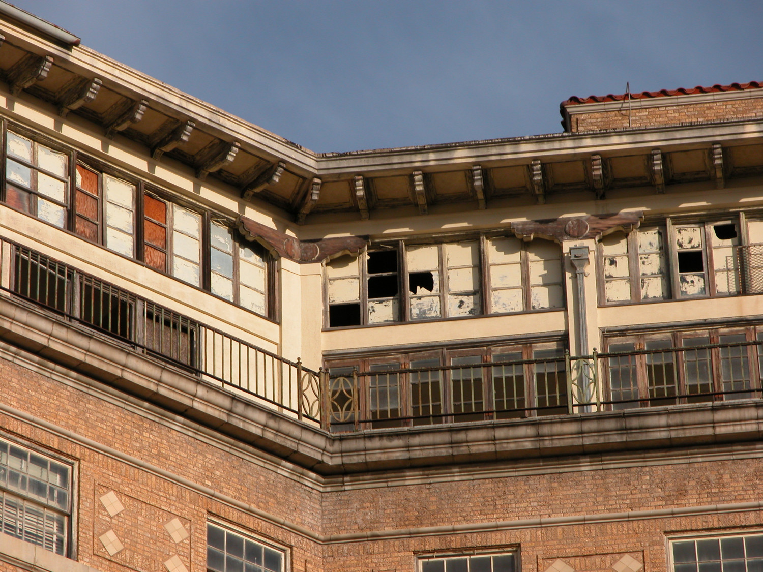 Baker Hotel Mineral Wells Detail Of Top Floor The Cloud Room The Portal To Texas History