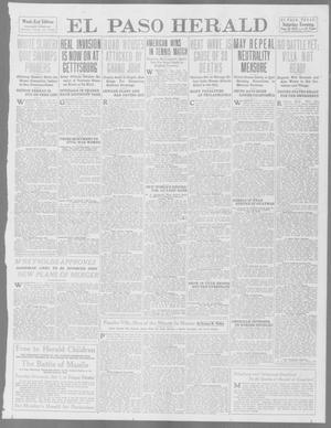 Primary view of object titled 'El Paso Herald (El Paso, Tex.), Ed. 1, Saturday, June 28, 1913'.