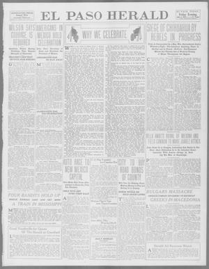 Primary view of object titled 'El Paso Herald (El Paso, Tex.), Ed. 1, Friday, July 4, 1913'.