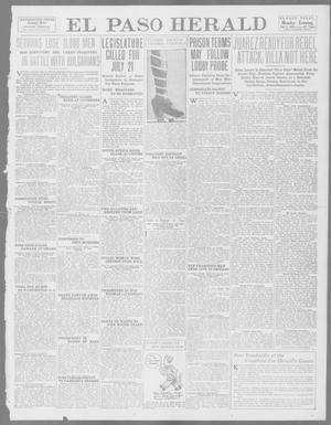 Primary view of object titled 'El Paso Herald (El Paso, Tex.), Ed. 1, Monday, July 7, 1913'.