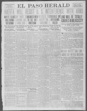 Primary view of object titled 'El Paso Herald (El Paso, Tex.), Ed. 1, Friday, August 8, 1913'.