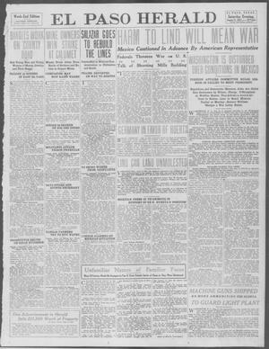 Primary view of object titled 'El Paso Herald (El Paso, Tex.), Ed. 1, Saturday, August 9, 1913'.
