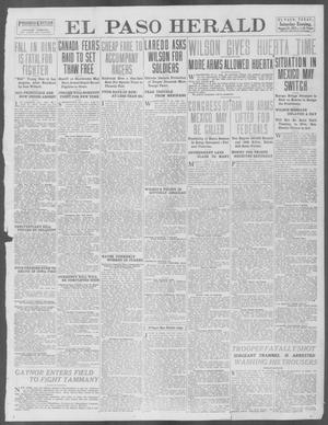 Primary view of object titled 'El Paso Herald (El Paso, Tex.), Ed. 1, Saturday, August 23, 1913'.