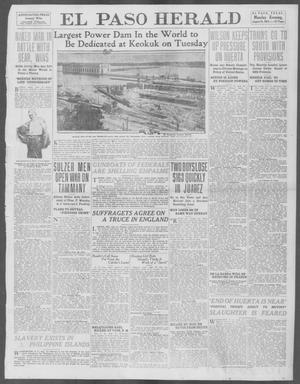Primary view of object titled 'El Paso Herald (El Paso, Tex.), Ed. 1, Monday, August 25, 1913'.