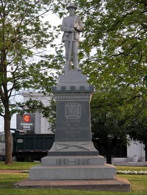 Primary view of object titled 'Confederate Memorial and statue, Parker County'.