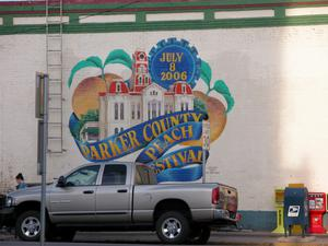 Mural in Weatherford - Parker County Peach Festival, July 8, 2006