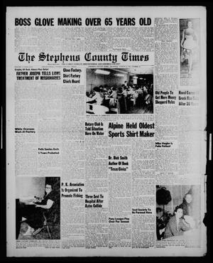 Primary view of object titled 'The Stephens County Times (Breckenridge, Tex.), Vol. 5, No. 31, Ed. 1 Thursday, August 4, 1955'.