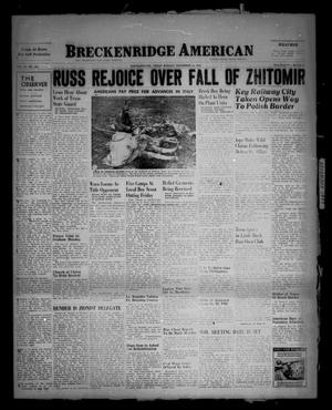 Primary view of object titled 'Breckenridge American (Breckenridge, Tex.), Vol. 23, No. 132, Ed. 1 Sunday, November 14, 1943'.