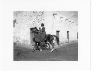 [Lady on Horseback, Laredo, Texas, c. 1910]