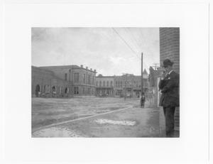 Primary view of object titled '[Street scene, Laredo, Texas, c. 1910]'.