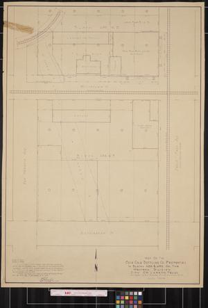 Primary view of object titled '[Map of Coca-Cola Bottling Company Properties]'.
