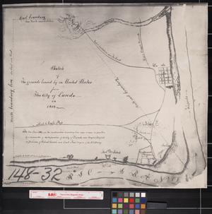 Primary view of object titled '[1853 boundaries of the City of Laredo]'.