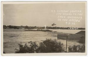 Primary view of object titled '[Flooded International Bridge, Laredo, Texas]'.
