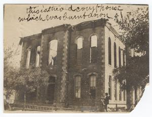 Primary view of object titled '[Ruins of First Webb County Courthouse]'.
