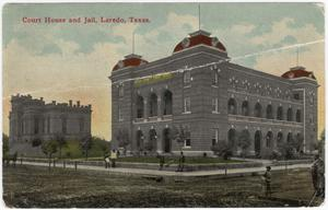 Primary view of object titled '[Court House and Jail, Laredo, Texas]'.