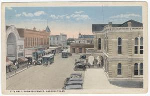 Primary view of object titled '[Flores Street near City Hall]'.