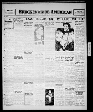 Primary view of object titled 'Breckenridge American (Breckenridge, Tex.), Vol. 26, No. 5, Ed. 1 Sunday, January 6, 1946'.