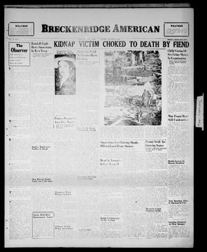 Primary view of object titled 'Breckenridge American (Breckenridge, Tex.), Vol. 26, No. 6, Ed. 1 Tuesday, January 8, 1946'.