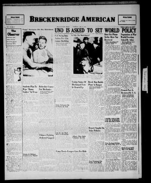 Primary view of object titled 'Breckenridge American (Breckenridge, Tex.), Vol. 26, No. 8, Ed. 1 Thursday, January 10, 1946'.
